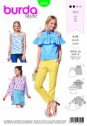 6405 Burda Pattern: Ladies Tops